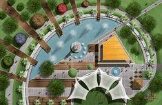 Landscape Ideas For Backyard Park Landscape, Landscape Plans, Urban Landscape, Landscape Design, Garden Design, Landscape Architecture Drawing, Architecture Plan, Architecture Details, Resort Plan