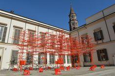 Vermiglia, the installation by Attilio Stocchi with Kartell - Palazzo Reale, Milano - Triennale