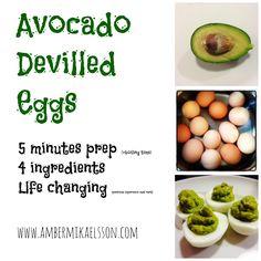 Avocado Devilled Eggs | Rural Rebel Mama