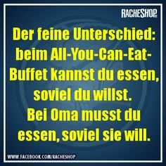 All-She-Will-Force-You-To-Eat! Oma ist die Beste! #fun #geklautbeiracheshop #Racheshop
