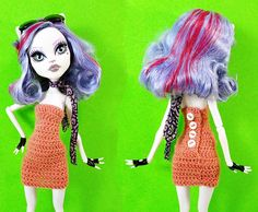 A simple tube dress designed for standard Monster High dolls. The pattern was designed to work with the exaggerated curves on Monster High dolls. Features Pattern is written in Table format Include...