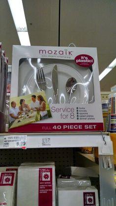 Elegant plasticware....