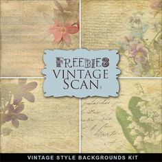 New Freebies Vintage Backgrounds Kit