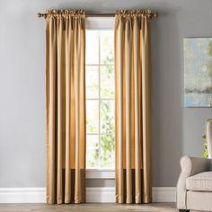 Solid Room Darkening Rod Pocket Single Curtain Panel Room Darkening, Guest Suite, Rod Pocket, Curtain Rods, Panel Curtains, Home Office, Windows, Design, Home Decor
