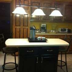 Kitchens with diff color islands