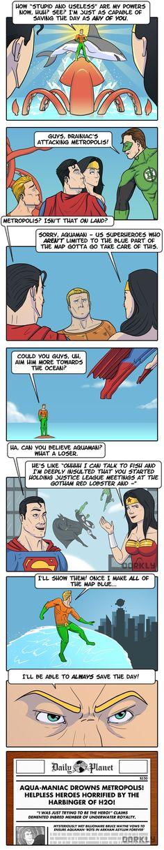 """""""Aquaman Isn't Useless"""" #dorkly #geek #justiceleague"""