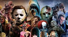 Icon Horror Movie Collage | When Icons Assemble : Halloween Love Chats To Horror Art Hero Chris ...