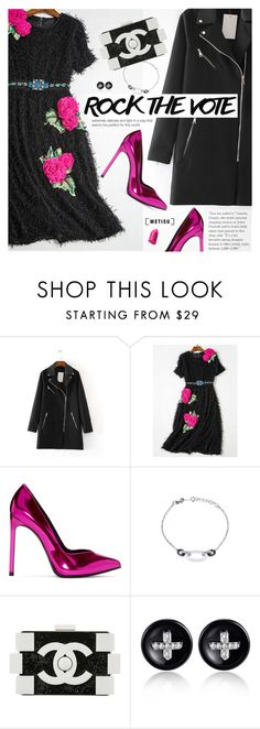 """""""Rock the Vote in Style"""" by metisu-fashion ❤ liked on Polyvore featuring Yves Saint Laurent, Chanel, Bobbi Brown Cosmetics, polyvoreeditorial, polyvoreset, rockthevote and metisu"""