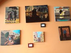 Work by @Art by Cherisse on display at Zabak's Cafe in Houston. Great art.