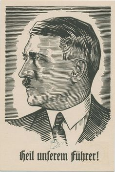 Hitler 1933 May Day art propaganda card a
