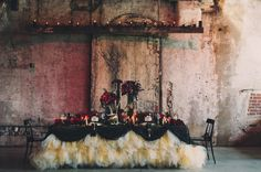 """In love with the table cover design, so """"haute couture""""  http://mangostudios.com/wp-content/uploads/2013/02/01-Toronto-Wedding-Photography-Mango-Studios.jpg"""