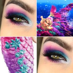 Tutorial – Makeup inspirada na Barbie Sereia com a Electric Palette!