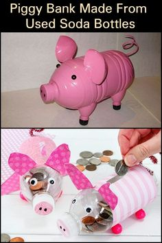 Animal Crafts For Kids, Craft Projects For Kids, Toddler Crafts, Diy Crafts For Kids, Pig Crafts, Preschool Crafts, Sock Crafts, Preschool Ideas, Water Bottle Crafts