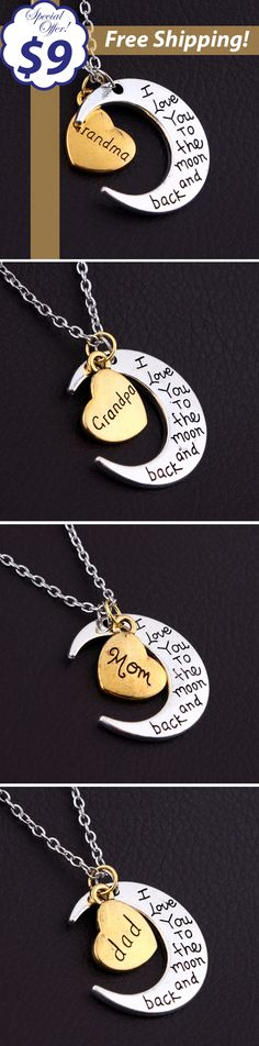 Show your grandma, grandpa, mom or dad how much you love them! http://www.gearvibes.com/collections/grandparents/products/i-love-you-moon-pendant Just $9 with FREE SHIPPING!