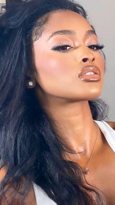 Cute Makeup, Glam Makeup, Gorgeous Makeup, Pretty Makeup, Beauty Makeup, Makeup Looks, Hair Makeup, Hair Beauty, Black Girl Makeup