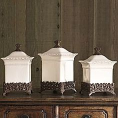 Chris Madden® Corvella set of 3 Canisters #CambriaQuartz ...