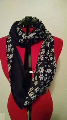 Black and White Infinity Scarf | Kiki Michel Couture
