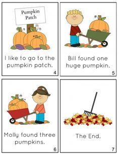 Free Printable Fall mini book