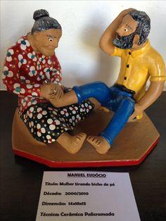Mulher tirando bicho de pé - Mestre Manuel Eudócio (Pernambuco)