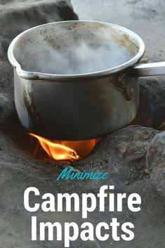 Learn how to Leave No Trace while hiking and backpacking - minimize your campfire impacts and protect the forest floor on your next backpacking trip #backpackingtips #hiking #leavenotrace