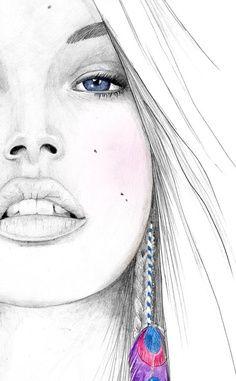 "Tania Label - More illustrations LINE BOTWIN ""illustrations portraits"""