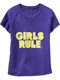 Girls Old Navy Active Graphic Tees