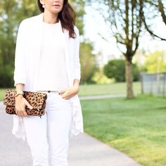 Crisp all white look.