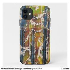 Abstract forest through the trees Case-Mate iPhone case New Iphone, Apple Iphone, Wood Charcoal, Ipod Touch Cases, Unique Iphone Cases, Green And Orange, Artwork Design, Plastic Case, Blue Gold