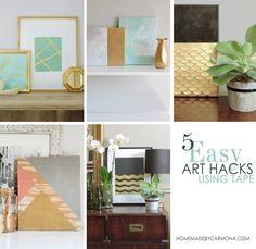 5 Easy DIY Art Hacks Using Tape