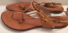 Gianni Versace Shoes Leather Flip Flop Sandals Boho Footwear Size 6 US | eBay