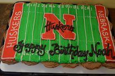 Husker football field cupcake cake from Serendipities Cupcakes, Lincoln, NE