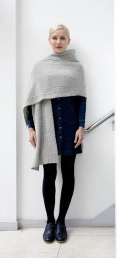 Wear a piece of Ireland with this Ladies 100% Irish Merino Wool wrap by Ireland's Eye in Dublin.  This gorgeous wrap is done in a granite yarn. Warm and comfortable on the skin, this is the perfect addition to any wardrobe.  Wear it as a wrap, a scarf or a coat topper.
