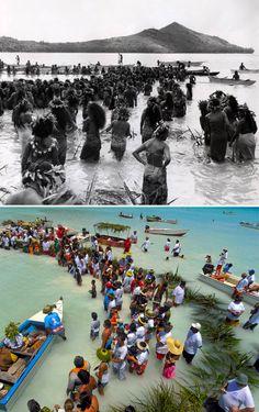 Stone Fishing in Tahiti, Past and Present. PHOTO (bottom): Pierre Lesage