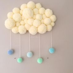 pom pom cloud - pom pom cloud Best Picture For baby crafts For Your Taste You are looking for something, and it i - Baby Crafts, Cute Crafts, Diy And Crafts, Craft Projects, Crafts For Kids, Arts And Crafts, Preschool Crafts, Pom Pom Rug, Pom Pom Baby
