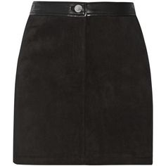Rebecca Minkoff Fred embellished suede skirt (310 AUD) ❤ liked on Polyvore featuring skirts, mini skirts, black, button skirt, rebecca minkoff, suede mini skirt, eyelet skirt and mini skirt