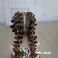 Easy Little Girl Hairstyles, Kids Braided Hairstyles, Teen Hairstyles, Girl Haircuts, Kids Hairstyle, Halloween Hairstyles, Childrens Hairstyles, School Hairstyles, Braided Ponytail