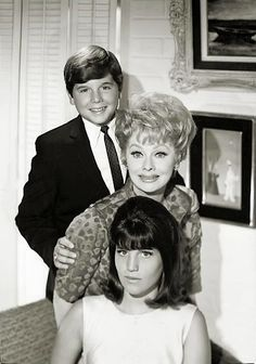 Lucy with children Lucie Arnaz and Desi Arnaz, Jr.