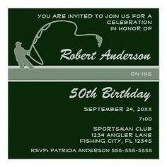 Fisherman Birthday Party Invitation