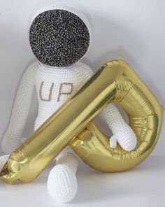 Shop online - Leggybuddy #upollocrew #crochet #astronaut #leggybuddy #handmade #handmadetoy #monochromatic #BW #rocketboy #upollotherocketboy