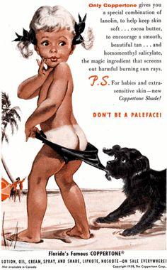 1950s Coppertone Ad.