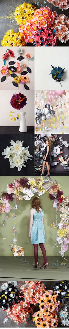 These paper flowers are gorgeous AND we'll manage to keep them alive for once. (wedding blog shortlist)