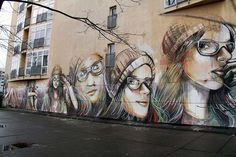 "Street Art by Alice Pasquini - Mural ""Suspended"" in Berlin | Street Art Berlin"
