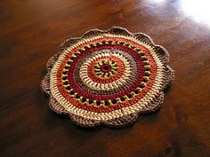 crochet doily - free pattern here: http://www.crochettoday.com/crochet-patterns/your-neighbor-ladys-doilies