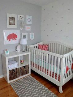 decoração cinza e rosa bebê