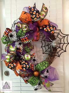 HALLOWEEN SPECIAL Spider Web Ribbon Deco by AQuaintHaberdashery
