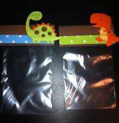 Dinosaur, T-rex / Dinos Treat / Party Favor Thank You Goodie Bags (Set of 10)