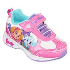 Nickelodeon™ Paw Patrol Girls Light-Up Sneakers - Toddler, Color: Fuchsia-white - JCPenney Light Up Sneakers, Girls Sneakers, Paw Patrol Outfit, Kids School Shoes, Paw Patrol Characters, Shoe Image, Best Kids Toys, Girls Shoes, Toddler Girl