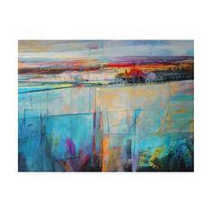 Kate Boyc Soft Morning Light Canvas Art - x - Multi Artist Canvas, Canvas Art, Lighted Canvas, Landscape Artwork, Collage, Light Art, Light Blue, Fine Art Paper, Art Decor