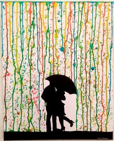 A Splatter Paint Rain Canvas Art by CleverMakings on Etsy, €48.00