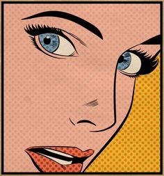 Contemporary Pop Art Portraits Joe McDermott Continues the Tradition & Work of Roy Lichtenstein Joe Mcdermott, Comic Books Art, Comic Art, Lichtenstein Pop Art, Pop Art Girl, Pop Art Portraits, Vintage Comics, Retro Art, Female Art